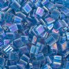 TL0291 10 Grams Transparent Sapphire AB Two Hole Miyuki Tila Beads