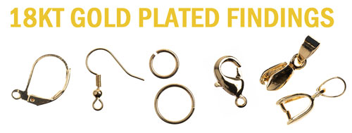 18KT Gold Plate Findings