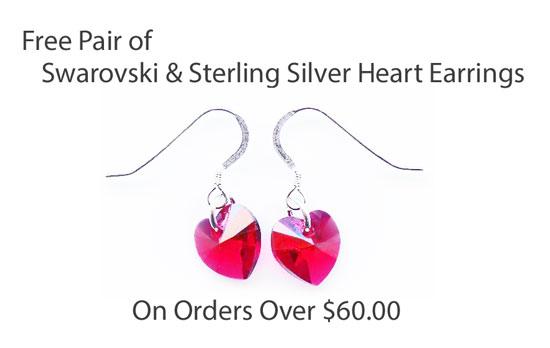 Free Swarovski Heart and Sterling Silver Earrings