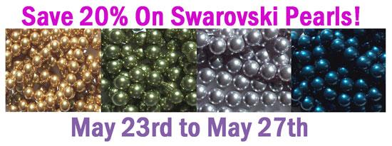 Swarovski Pearl Sale